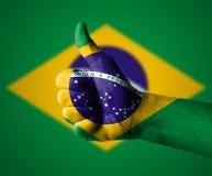 Brasilien supporter Royaltyfri Bild