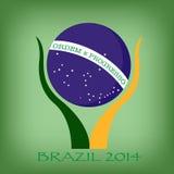 Brasilien symbol i hand Arkivfoton