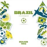 Brasilien symbolsuppsättning Royaltyfria Bilder
