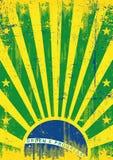 Brasilien tappningsolstrålar Royaltyfri Bild