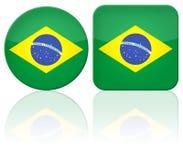Brasilien-Tastenmarkierungsfahne Stockbilder