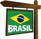 Brasilien tecken Arkivfoto
