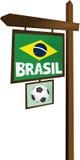 Brasilien tecken Arkivbild