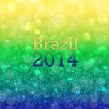 Brasilien temaillustration med abstrakta bokehljus Arkivbilder