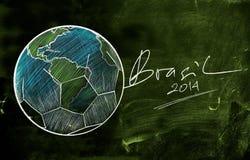Brasilien 2014 världscup skissar Arkivbild
