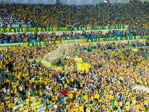 Brasilien vc Spanien - FIFA förbundkopp 2013 Arkivfoton