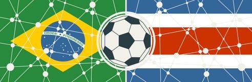 Brasilien vs Costa Rica vektor illustrationer