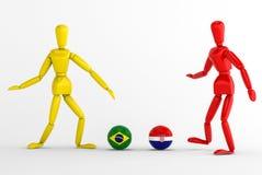 Brasilien vs Kroatien fotboll Royaltyfri Fotografi