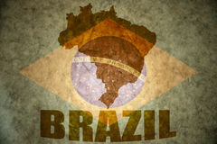 Brasilien-Weinlesekarte Stockfotos