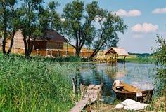 Braslav,白俄罗斯- 2008年7月25日:Braslav湖的最美好的本质 图库摄影