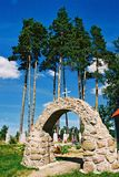 Braslav, BIELORRUSIA - 25 de julio de 2008: La iglesia de St Anne en el pueblo Mosar Imágenes de archivo libres de regalías