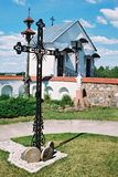Braslav, BIELORRUSIA - 25 de julio de 2008: La iglesia de St Anne en el pueblo Mosar Imagen de archivo