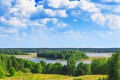 Braslav jezior widok Zdjęcia Stock