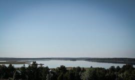 Braslav jezior widok od above Obraz Stock