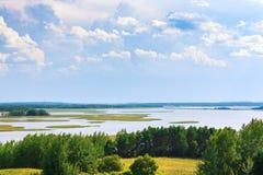 Braslav jezior widok w dniu Zdjęcia Stock