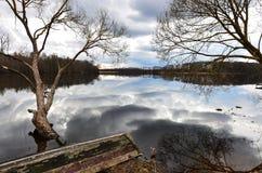 Braslav Seen zu Beginn des Frühlinges Lizenzfreies Stockbild