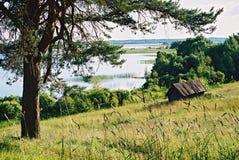 Braslav VITRYSSLAND - JULI 25, 2008: Den mest härliga naturen av Braslav sjöarna Arkivfoton