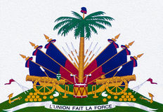 Brasão de Haiti Imagens de Stock