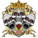 brasão do crânio do grunge Fotos de Stock