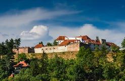Brasov城堡。 罗马尼亚, Transylvania。 免版税库存图片
