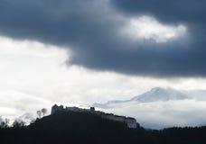 brasov城堡rasnov罗马尼亚 免版税图库摄影