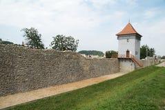 brasov城市筑堡垒于的墙壁 免版税图库摄影