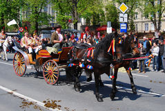 brasov庆祝城市日罗马尼亚 免版税库存图片