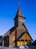 brasov教会木头 免版税库存图片