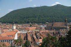 brasov罗马尼亚方形城镇 图库摄影