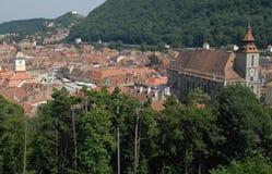 brasov罗马尼亚方形城镇 库存图片