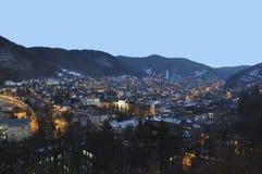 brasov都市风景晚上 免版税库存图片