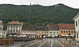 Brasov – old city center – Romania Royalty Free Stock Photography