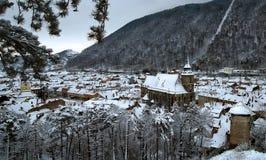 brasov över vinter Royaltyfri Bild