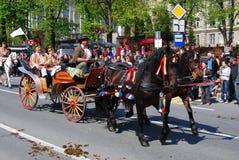 brasov świętowania miasta dzień Romania Obraz Royalty Free