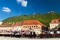 brasov κεντρική πόλη ιστορική Στοκ φωτογραφία με δικαίωμα ελεύθερης χρήσης