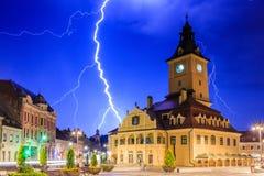 brasov κεντρική πόλη παλαιά Ρου&m στοκ φωτογραφία