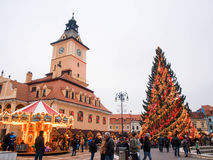 Brasov, Τρανσυλβανία, Ρουμανία, στα Χριστούγεννα Στοκ εικόνες με δικαίωμα ελεύθερης χρήσης