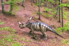 BRASOV, РУМЫНИЯ - ИЮНЬ 2015: размером с Реальн динозавры на Rasnov Dino Стоковое Изображение