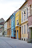 Brasov. A street with old houses in the city of Brasov royalty free stock photography