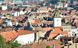 Brasov. 's Old Town, view from the hill stock photography