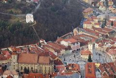 Brasov aerial view Stock Photography