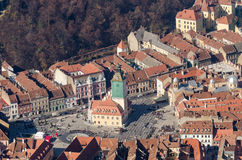 Brasov Aerial View Stock Photo