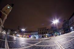 Brasov. A beautiful night in Brasov, Romania Stock Image
