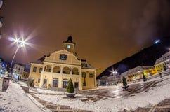 Brasov. A beautiful night in Brasov, Romania Royalty Free Stock Photo