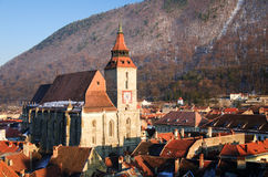 Brasov - Biserica Neagra. Biserica Neagra (The Black Church) is a celebrated Gothic site in Brasov, Romania. The building dates from 1477, when it replaced an stock photos