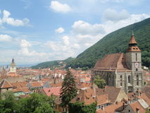 Brasov. The Black Church in Brasov, Romania Royalty Free Stock Images
