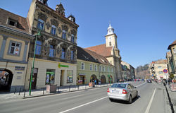 Brasov center architecture Royalty Free Stock Photography