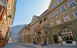 Brasov Center Street Royalty Free Stock Photo