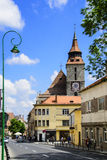 Brasov. Central street view,romania Royalty Free Stock Photography