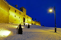 Brasov Citadel. Winter at the Brasov citadel Royalty Free Stock Image